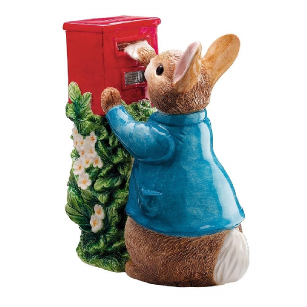 Peter Rabbit Posting a Letter Ceramic Money Bank. A7170